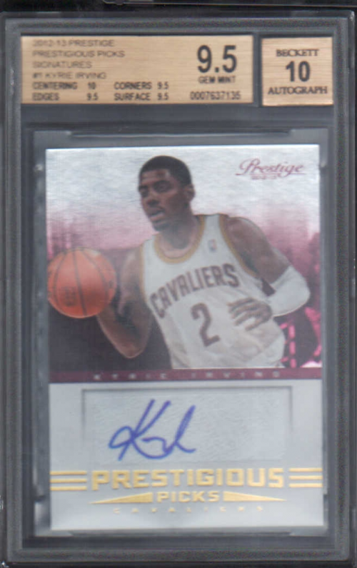 2012-13 Prestige Prestigious Picks Signatures #1 Kyrie Irving