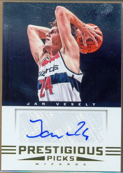 2012-13 Prestige Prestigious Picks Signatures #5 Jan Vesely
