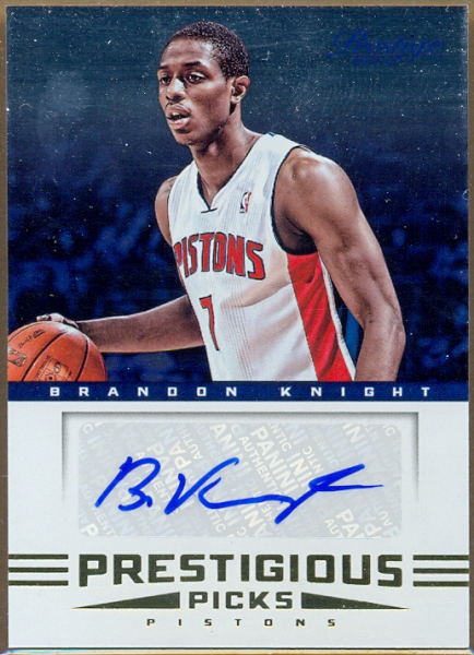 2012-13 Prestige Prestigious Picks Signatures #7 Brandon Knight