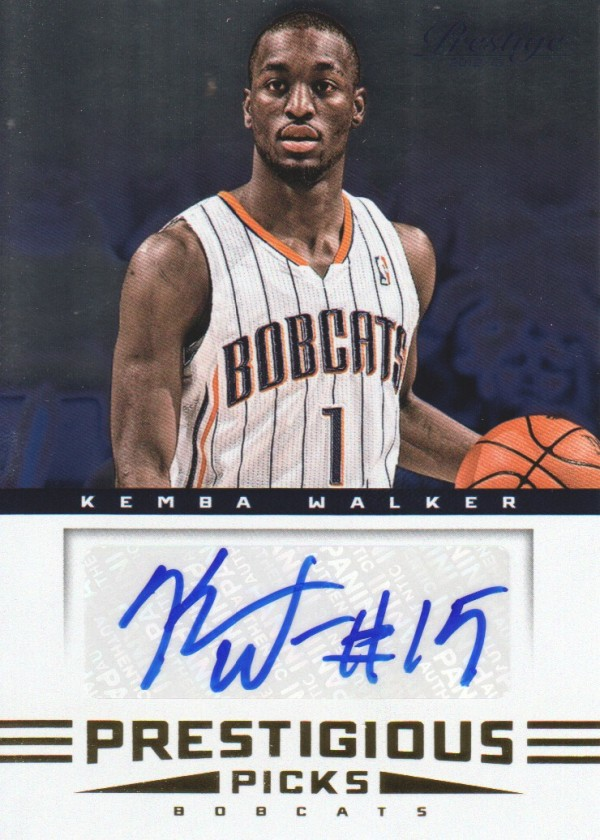 2012-13 Prestige Prestigious Picks Signatures #8 Kemba Walker