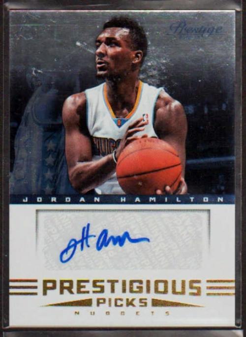 2012-13 Prestige Prestigious Picks Signatures #23 Jordan Hamilton