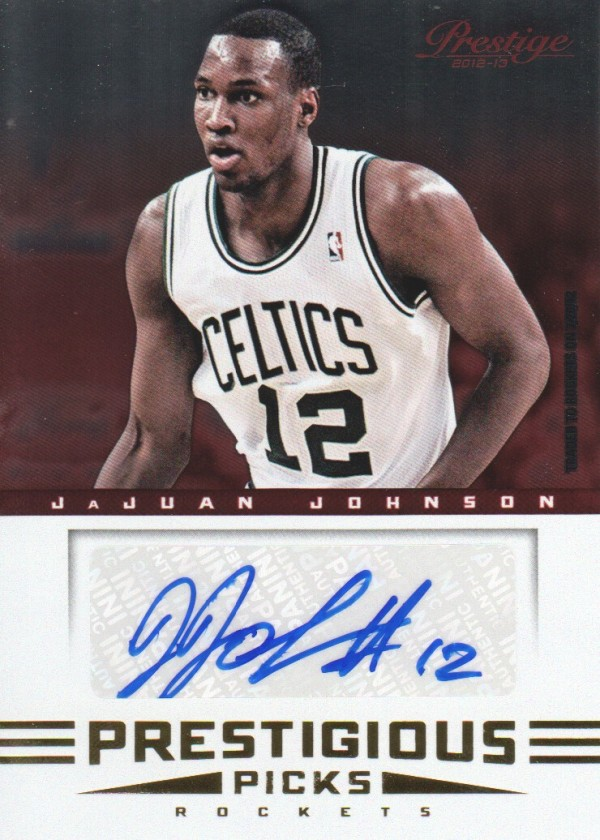 2012-13 Prestige Prestigious Picks Signatures #24 JaJuan Johnson