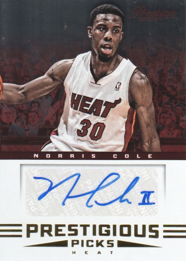 2012-13 Prestige Prestigious Picks Signatures #25 Norris Cole