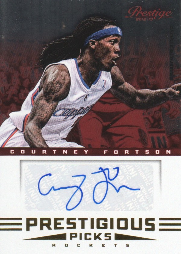 2012-13 Prestige Prestigious Picks Signatures #44 Courtney Fortson