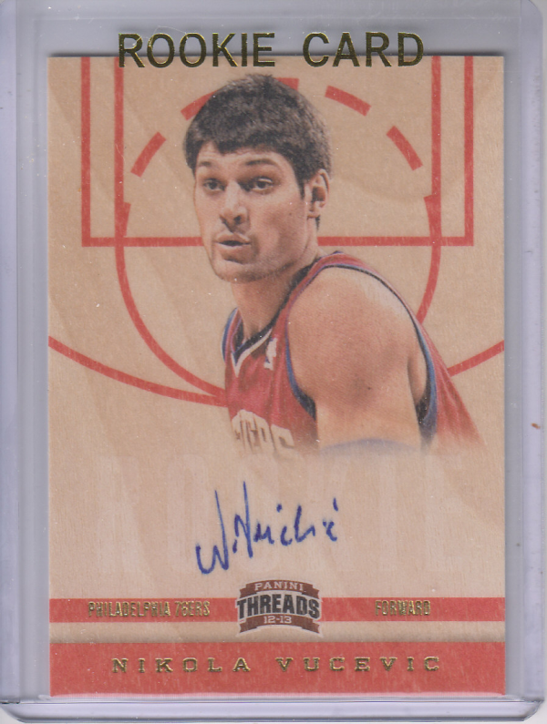 2012-13 Panini Threads #164 Nikola Vucevic AU RC