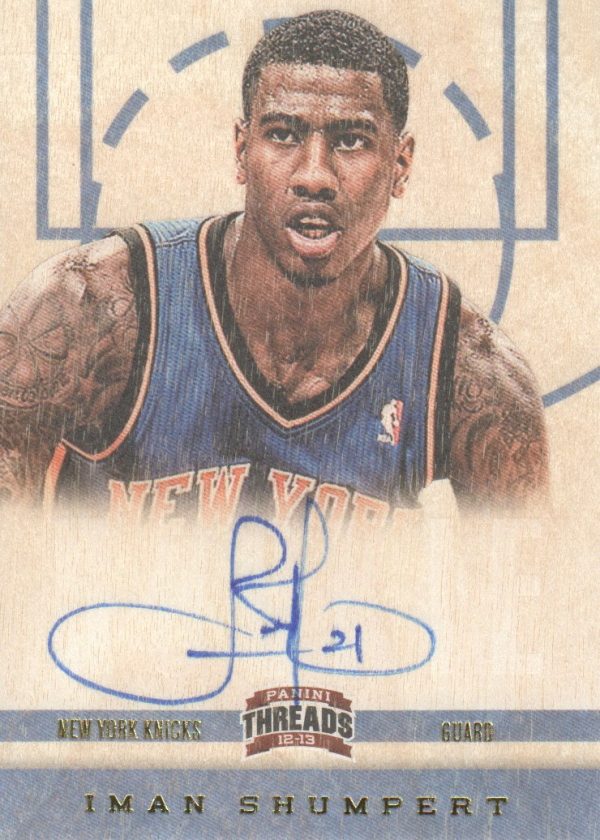 2012-13 Panini Threads #165 Iman Shumpert AU RC