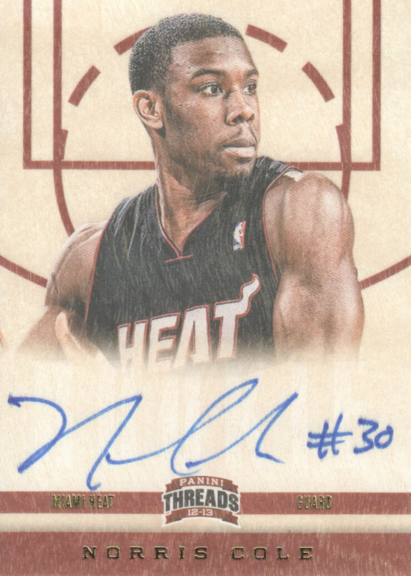 2012-13 Panini Threads #174 Norris Cole AU RC