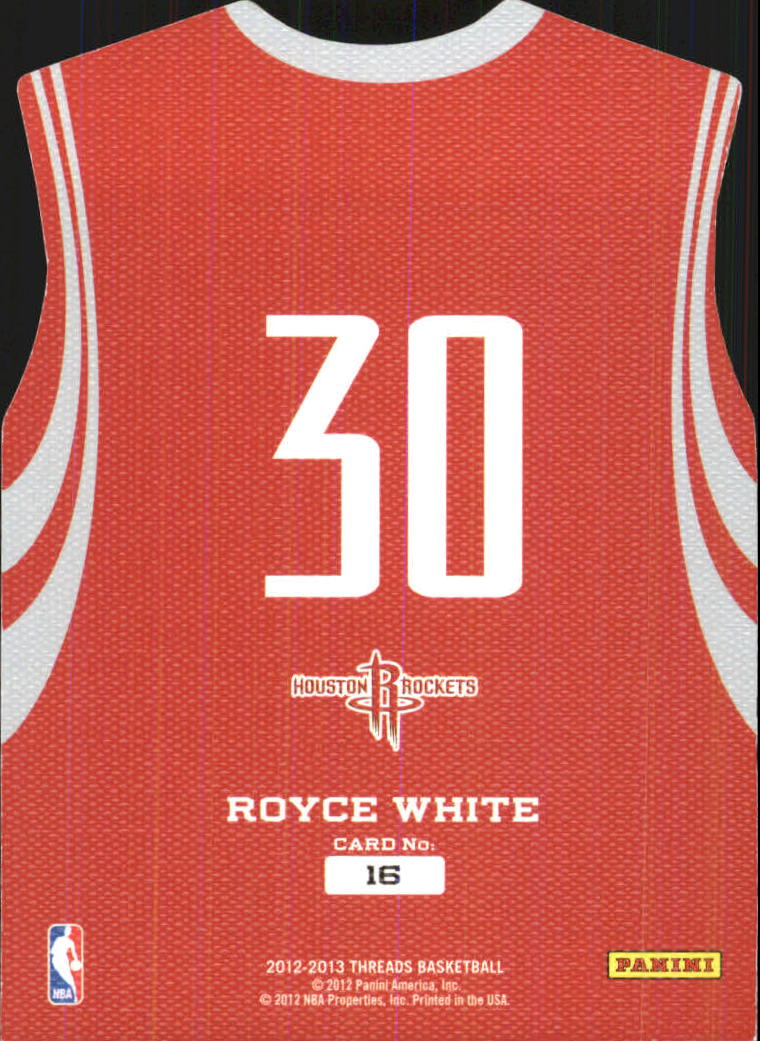 2012-13 Panini Threads Rookie Team Threads #16 Royce White back image