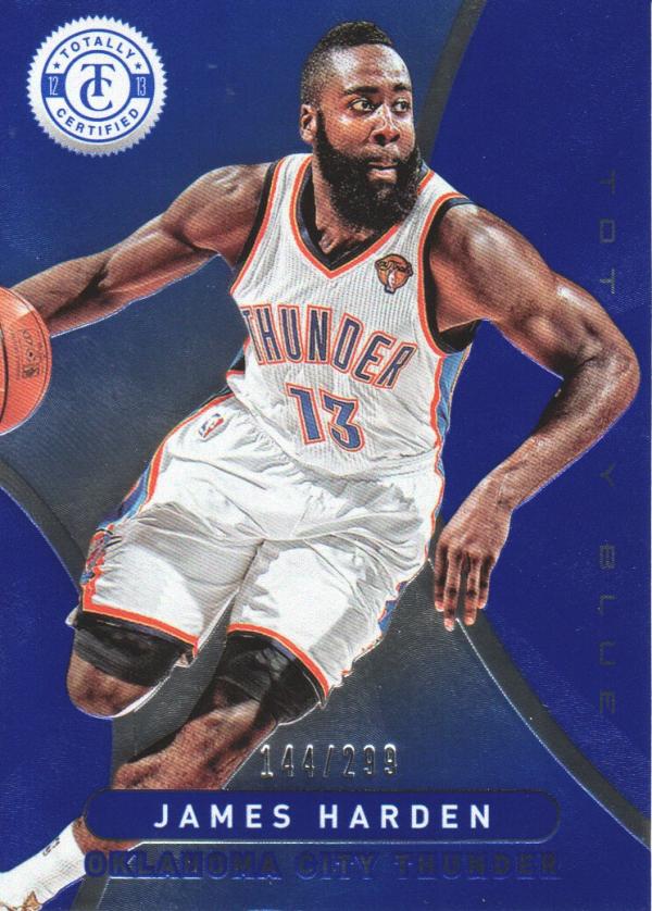 2362e4a45f42 2012-13 Totally Certified Blue Thunder Basketball Card  90 James Harden 299