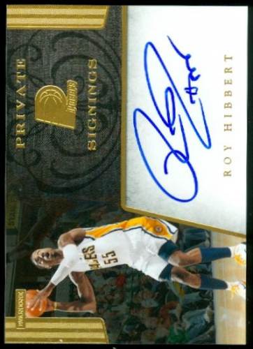 2012-13 Totally Certified Private Signings #7 Roy Hibbert