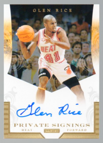 2012-13 Totally Certified Private Signings #14 Glen Rice