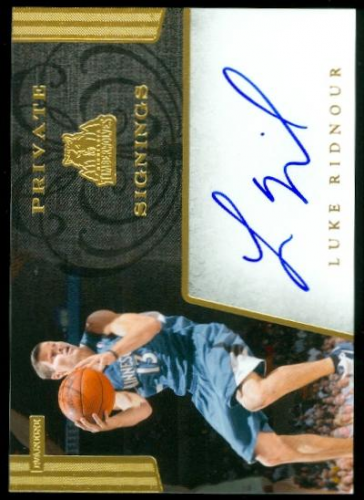 2012-13 Totally Certified Private Signings #15 Luke Ridnour