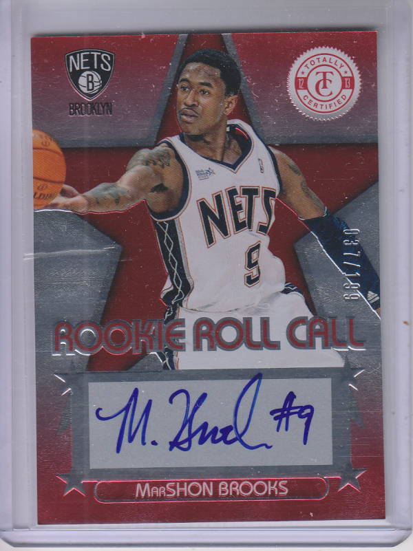 2012-13 Totally Certified Rookie Roll Call Autographs Red #14 MarShon Brooks/199