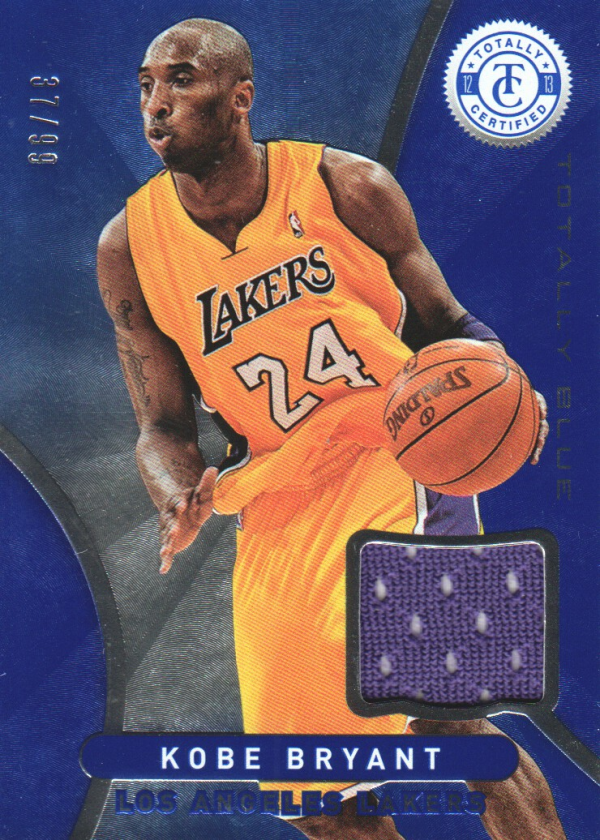 2012-13 Totally Certified Blue Materials #1 Kobe Bryant/99