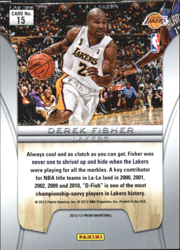 2012-13 Panini Prizm Finalists #15 Derek Fisher back image