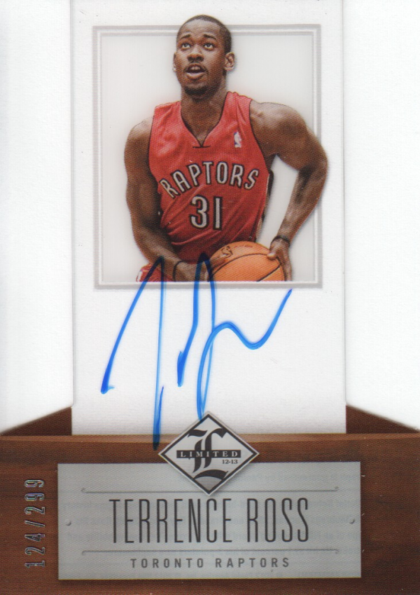2012-13 Limited #163 Terrence Ross AU/299 RC