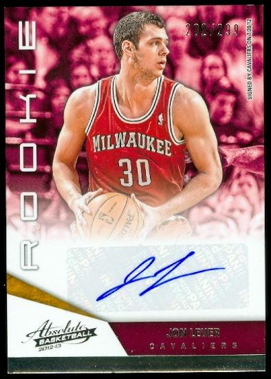 2012-13 Absolute #203 Jon Leuer AU/299 RC