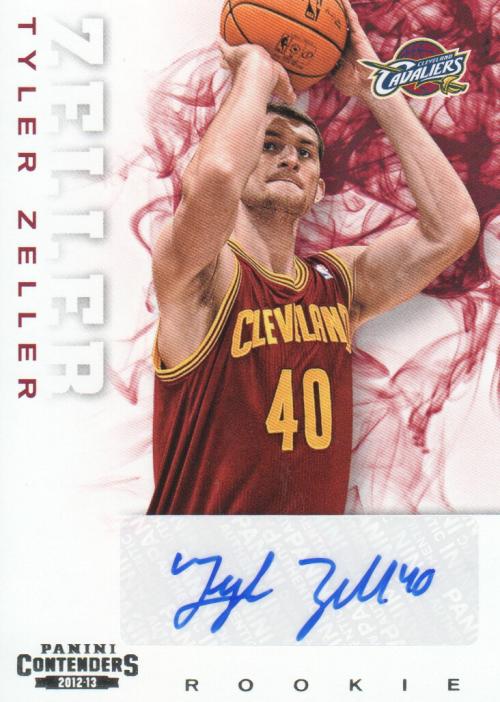 2012-13 Panini Contenders #216 Tyler Zeller AU RC