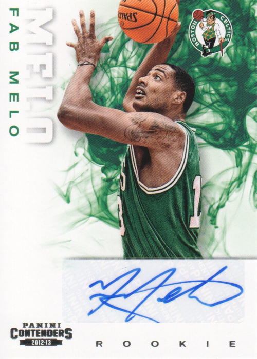 2012-13 Panini Contenders #221 Fab Melo AU RC