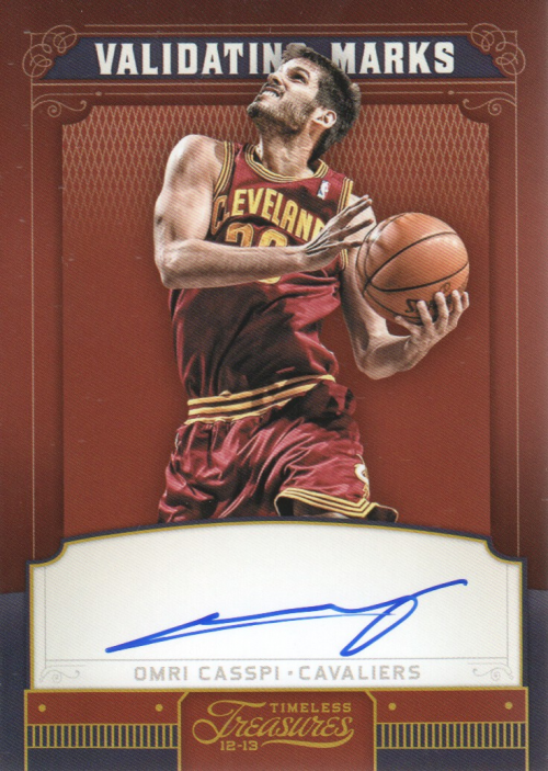 2012-13 Timeless Treasures Validating Marks Autographs #12 Omri Casspi/199 EXCH