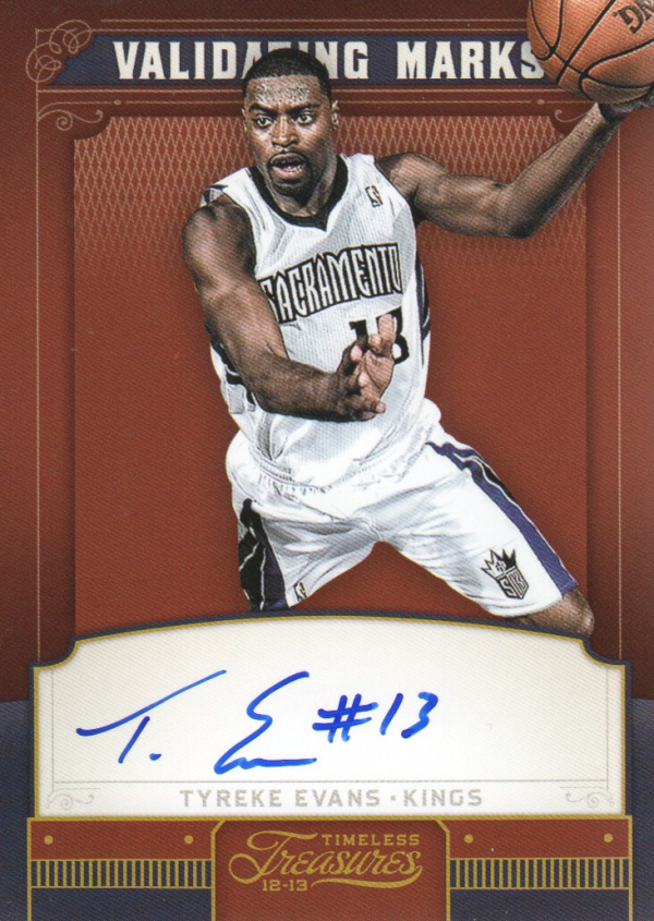 2012-13 Timeless Treasures Validating Marks Autographs #20 Tyreke Evans/49