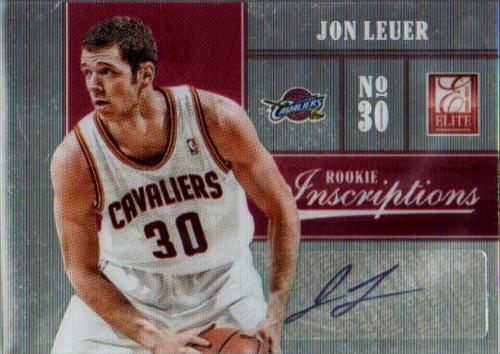 2012-13 Elite Rookie Inscriptions #37 Jon Leuer