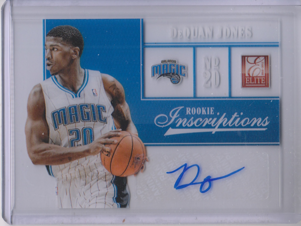 2012-13 Elite Rookie Inscriptions #99 DeQuan Jones