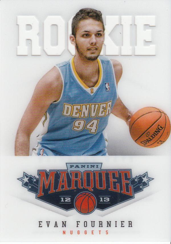 2012-13 Panini Marquee #505 Evan Fournier RC