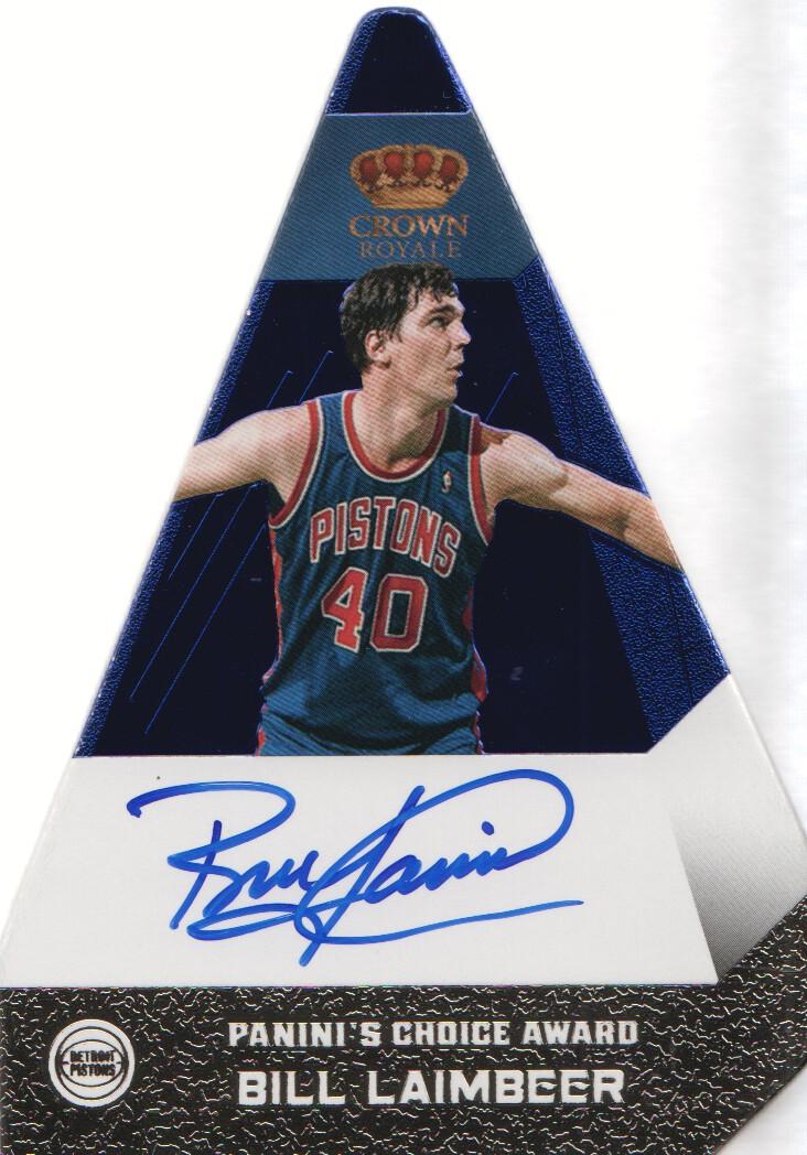 2012-13 Panini Preferred Blue #9 Bill Laimbeer PC AU/49