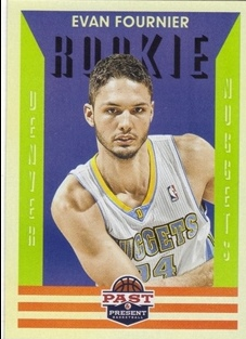 2012-13 Panini Past and Present #162 Evan Fournier RC