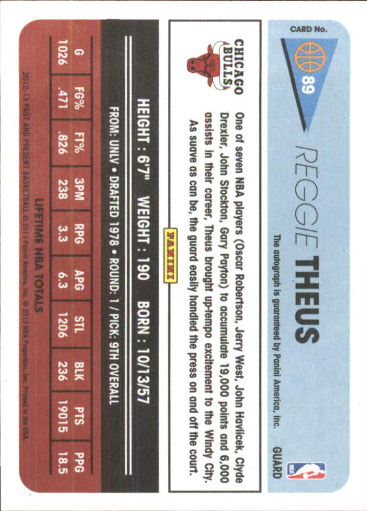 2012-13 Panini Past and Present Signatures #89 Reggie Theus back image