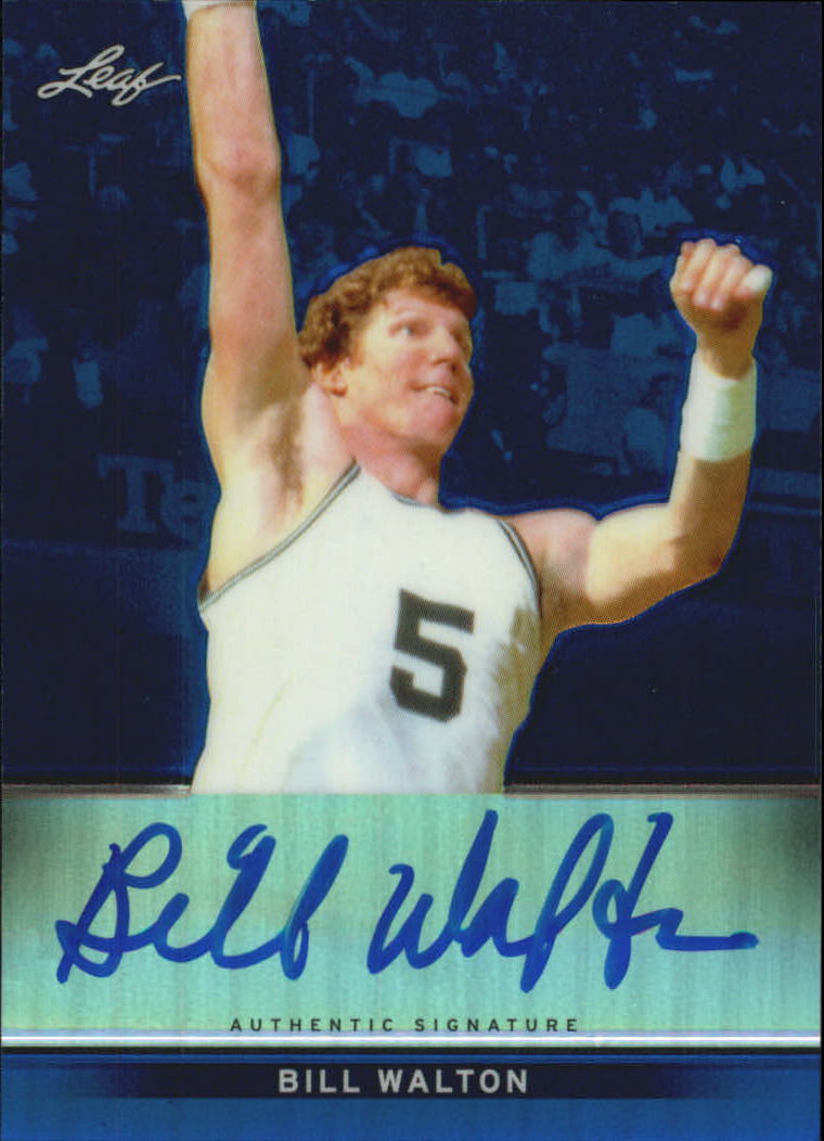 2012-13 Leaf Metal Holo Blue #BABW1 Bill Walton