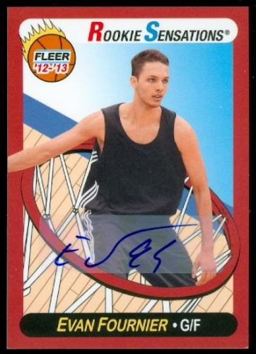 2012-13 Fleer Retro Autographs #57 Evan Fournier RS B