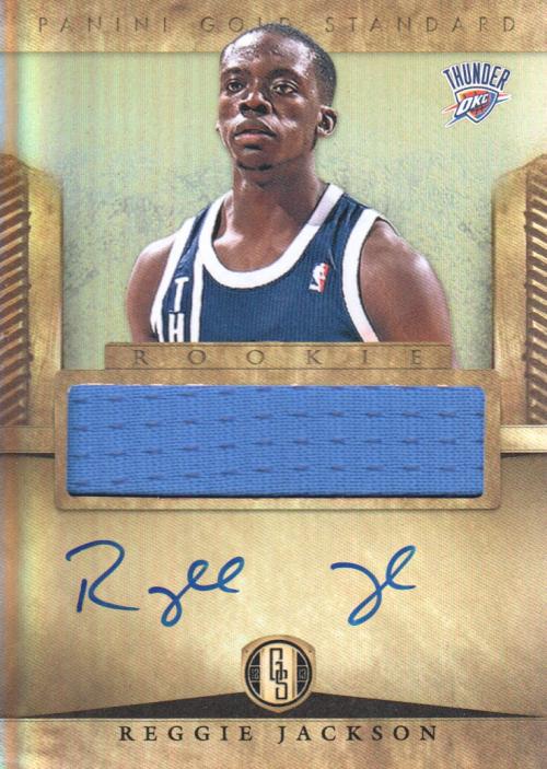 2012-13 Panini Gold Standard #296 Reggie Jackson JSY AU RC