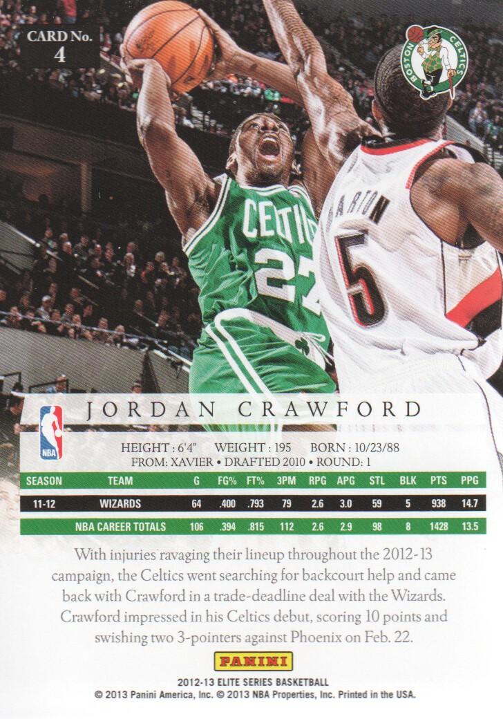 2012-13 Elite Series #4 Jordan Crawford back image