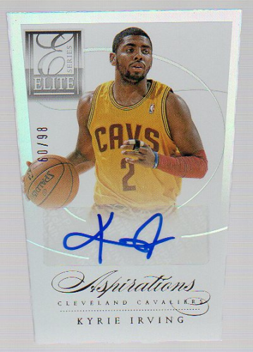 2012-13 Elite Series Aspirations Autographs #18 Kyrie Irving/98