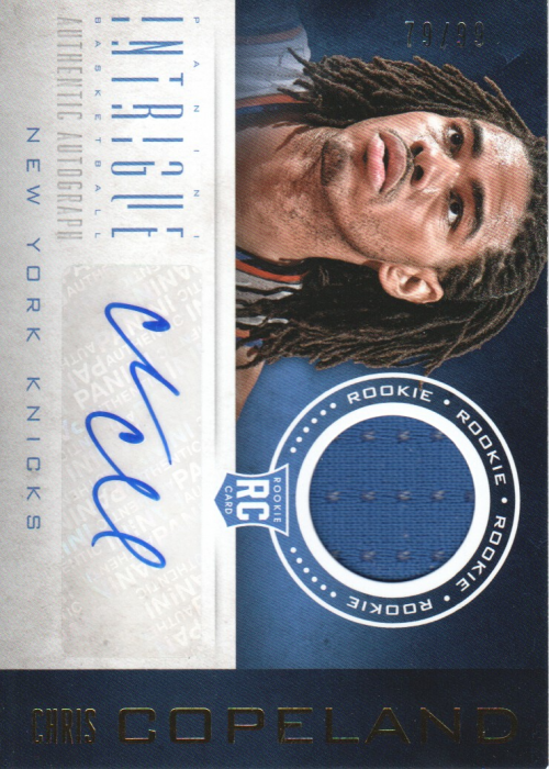 2012-13 Panini Intrigue #123 Chris Copeland JSY AU/99 RC
