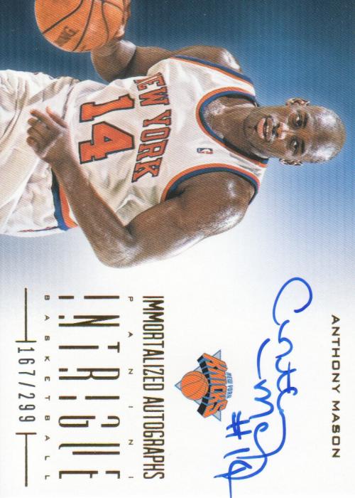 2012-13 Panini Intrigue Immortalized Autographs #52 Anthony Mason/299