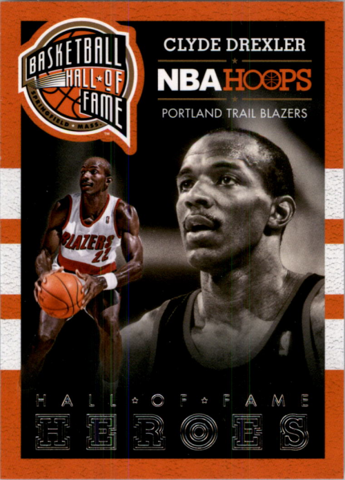 2013-14 Hoops Hall of Fame Heroes #4 Clyde Drexler