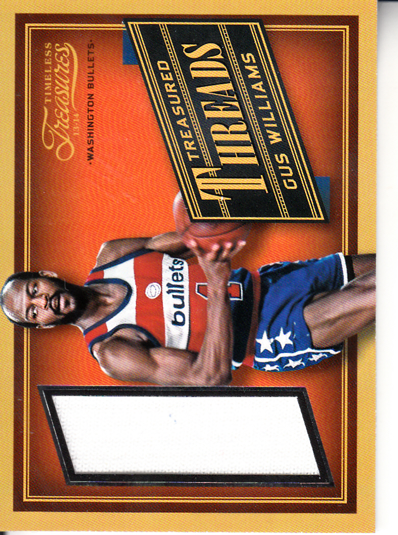 2013-14 Timeless Treasures Treasured Threads #7 Gus Williams