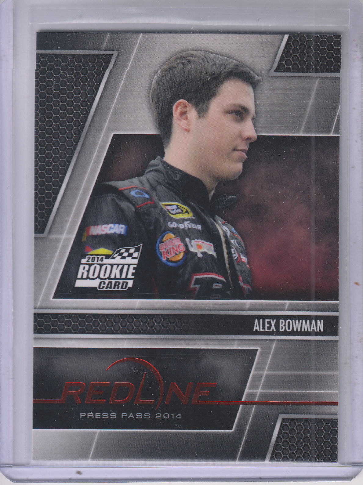 2014 Press Pass Redline #8 Alex Bowman RC
