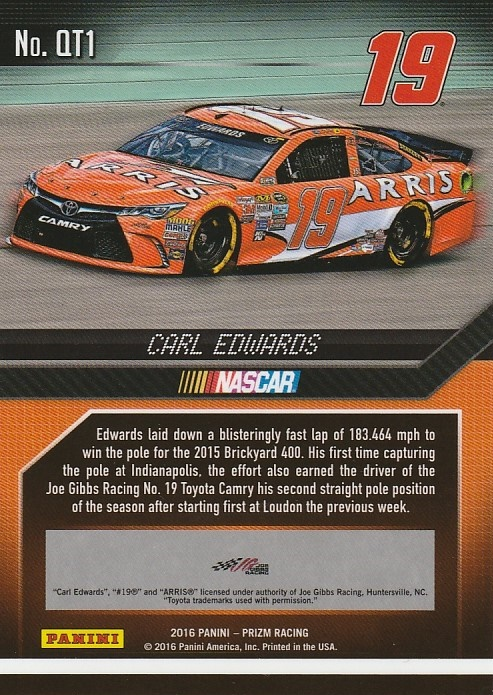 2016-Panini-Prizm-Racing-Assorted-Inserts-You-Pick-Buy-10-cards-FREE-SHIP thumbnail 17