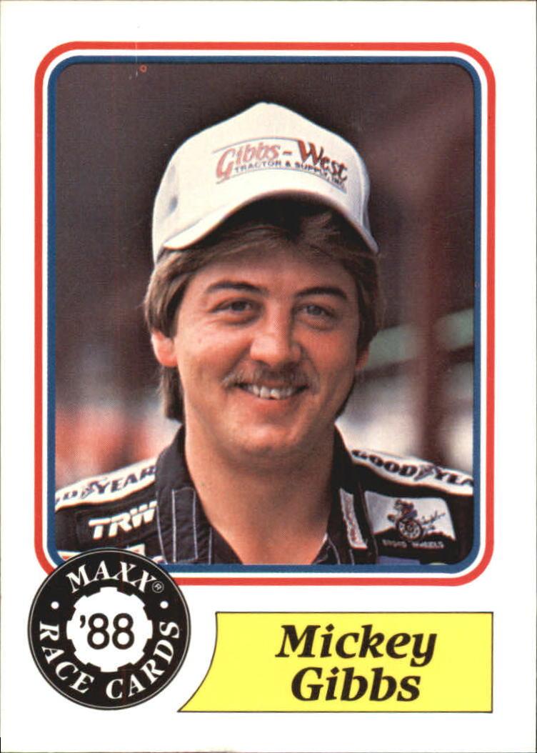 1988 Maxx Charlotte #8 Mickey Gibbs RC