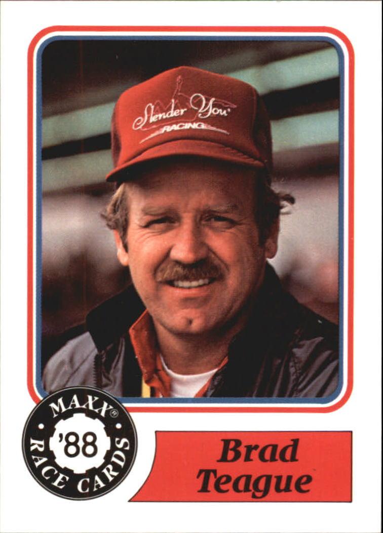 1988 Maxx Charlotte #12 Brad Teague