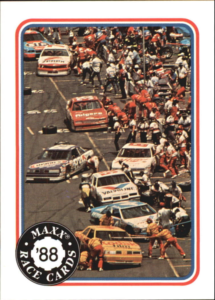 1988 Maxx Charlotte #15 Pit Row Action