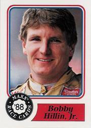 1988 Maxx Charlotte #52 Bobby Hillin RC