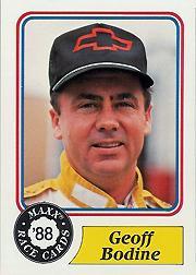 1988 Maxx Charlotte #67 Geoff Bodine RC