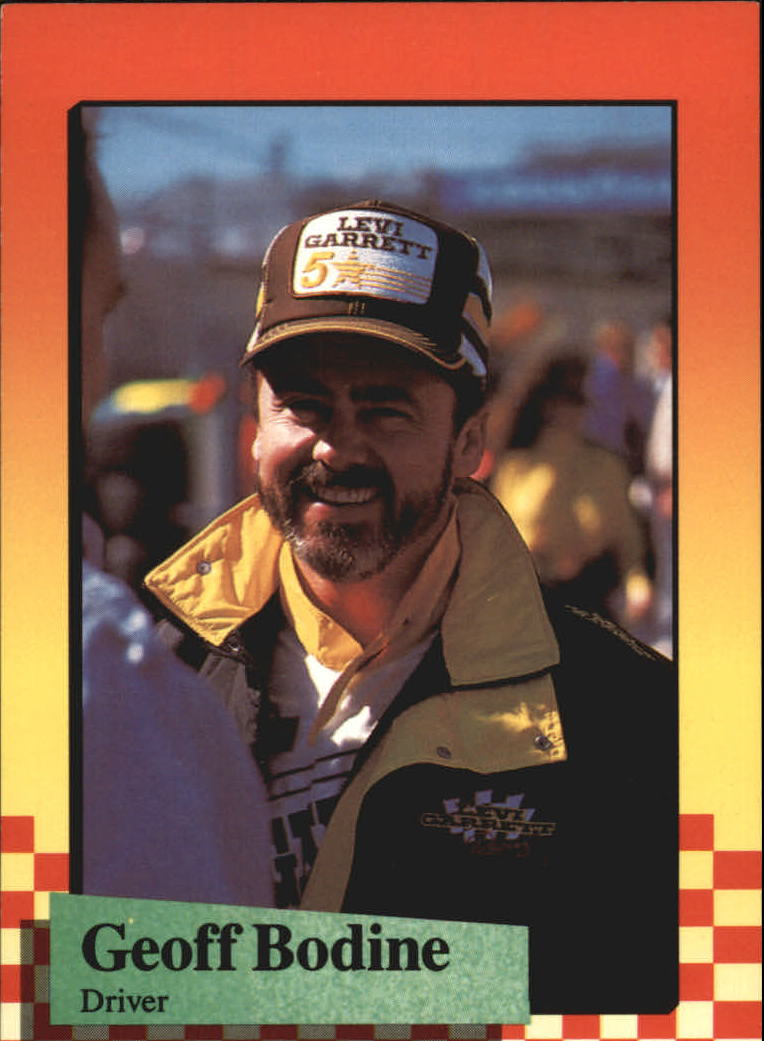 1989 Maxx #5A Geoff Bodine ERR/last line of text incomplete