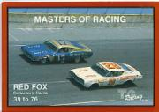 1989-90 TG Racing Masters of Racing #39 Cover Card/Red Fox 39-76/David Pearson's Car/Earl Brooks' Car