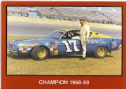 1989-90 TG Racing Masters of Racing #42 David Pearson w/car/Champion 1968-69
